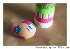 Decorating Easter Eggs with Washi Tape