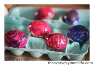 Nail Polish Tie-Dyed Easter Eggs