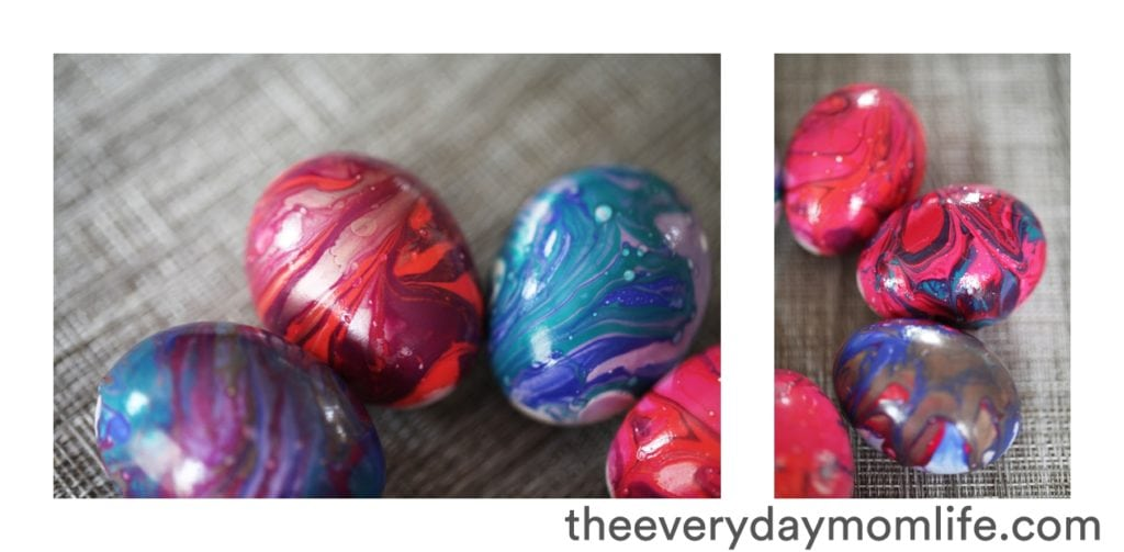 Nail Polish Tie-Dyed Easter Egg Craft For Kids
