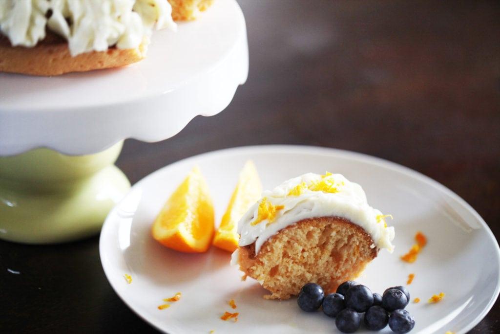 Orange Bundt Cake with Vanilla Cream Cheese Frosting