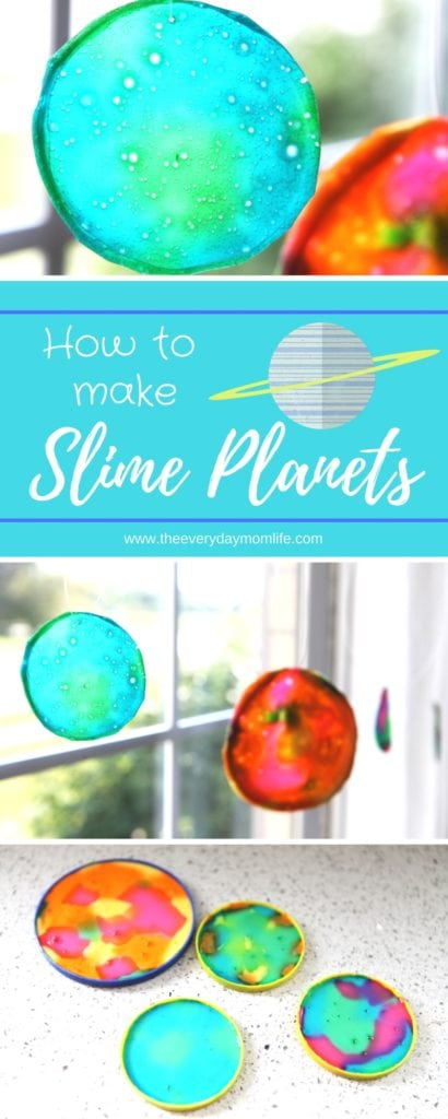 slime planet sun catchers teach about the solar system - The everyday mom life
