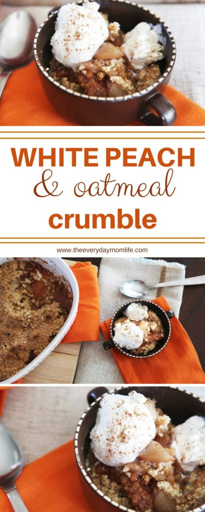 White peach and oatmeal crumble - The Everyday Mom Life