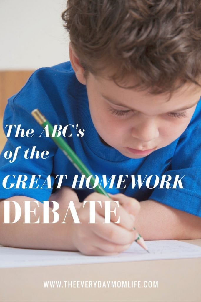 homework debate - The everyday mom life
