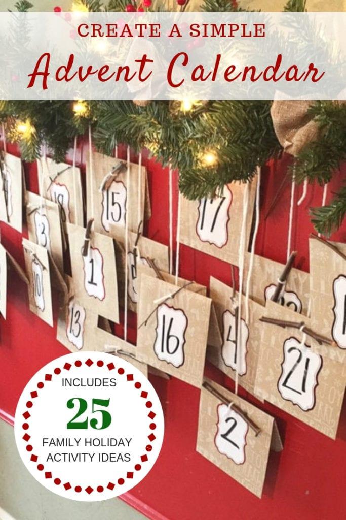 advent calendar ideas - The Everyday Mom Life