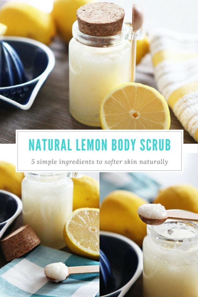 Natural lemon body scrub