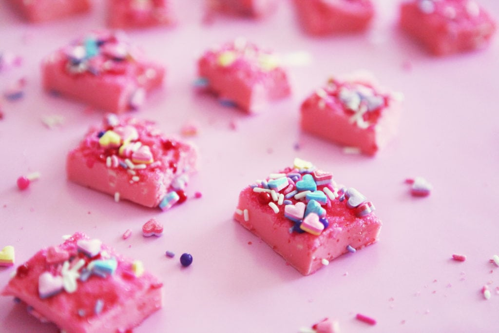 pink fudge recipe