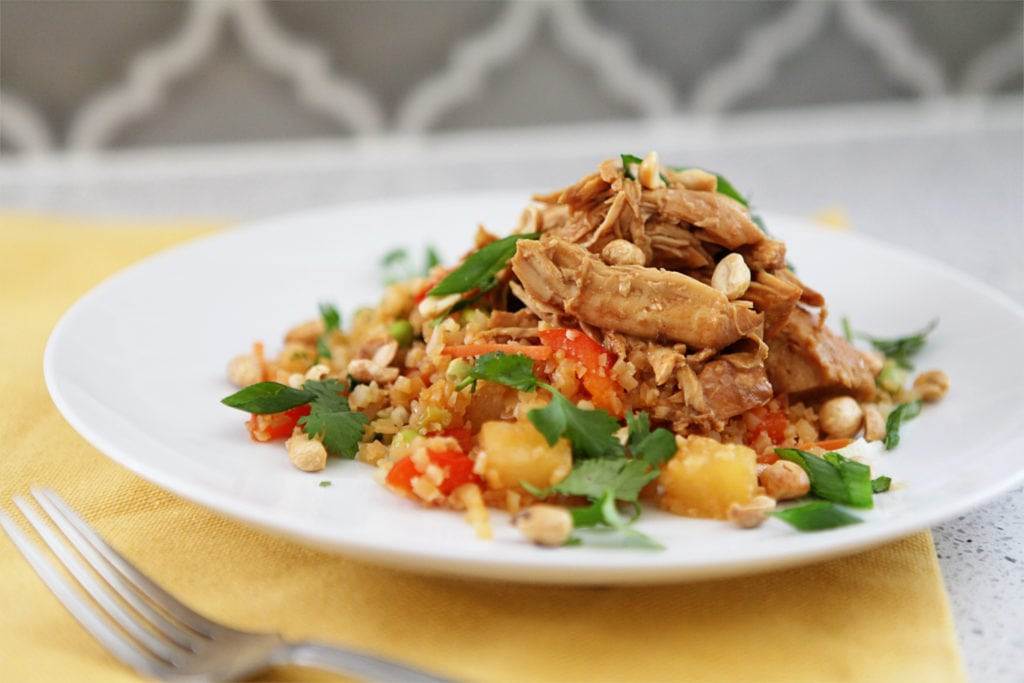 slow cooker thai peanut chicken - The everyday mom life