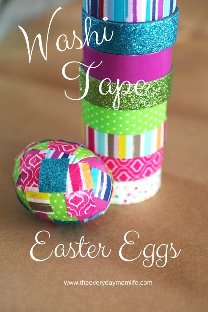 Washi Tape Easter Eggs Are A Fun Funky Dye Alternative