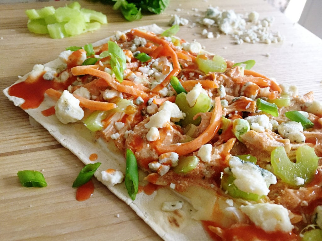 Buffalo Chicken Flatbread from The Everyday Mom Life