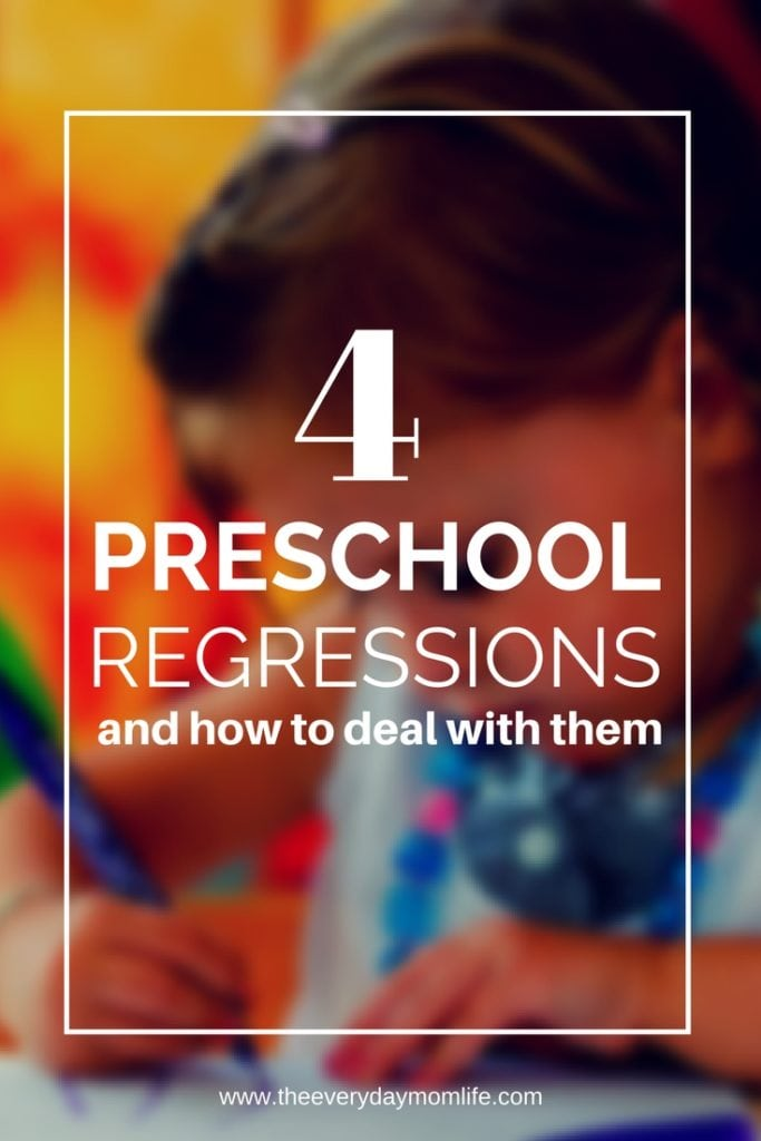 4 preschool regressions mirror writing, potty training, sleep regression, baby talk