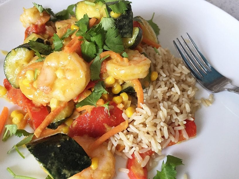 coconut milk curry shrimp - The Everyday Mom Life