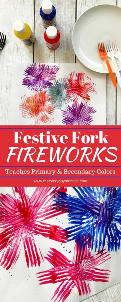 Fourth of July Fireworks Craft - The Everyday Mom Life