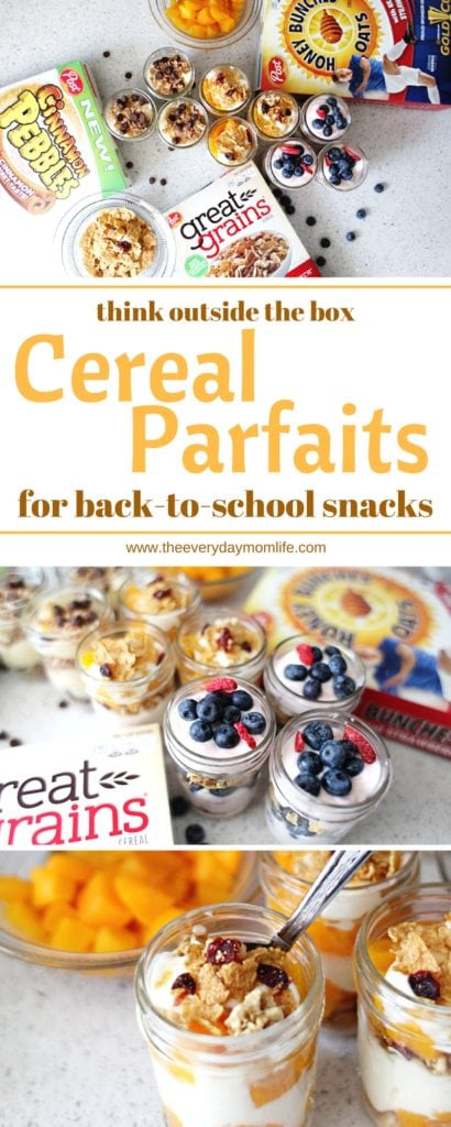 cereal parfaits for after school snacks - The Everyday Mom Life
