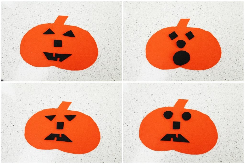 Emotional pumpkin activity teaches shapes and emotions - The Everyday Mom Life