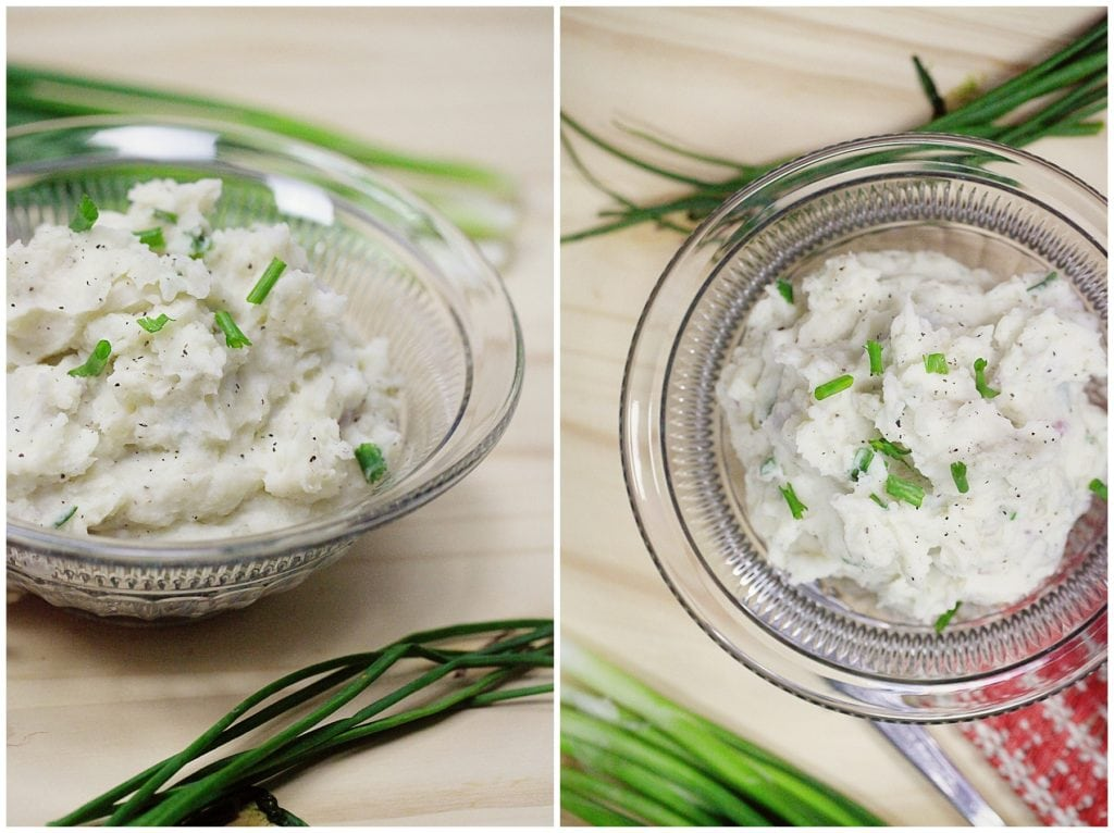 Sour Cream and Chive mashed potatoes - The Everyday Mom Life