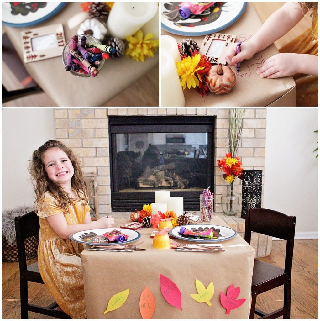kids' table for thanksgiving - The everyday mom life