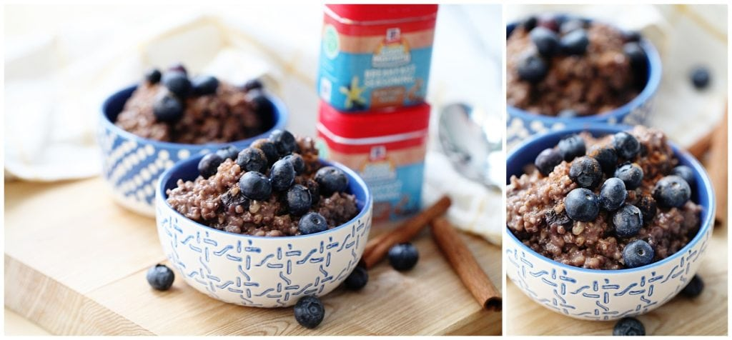 Maple Cinnamon Blueberry Overnight Oats - The Everyday Mom Life
