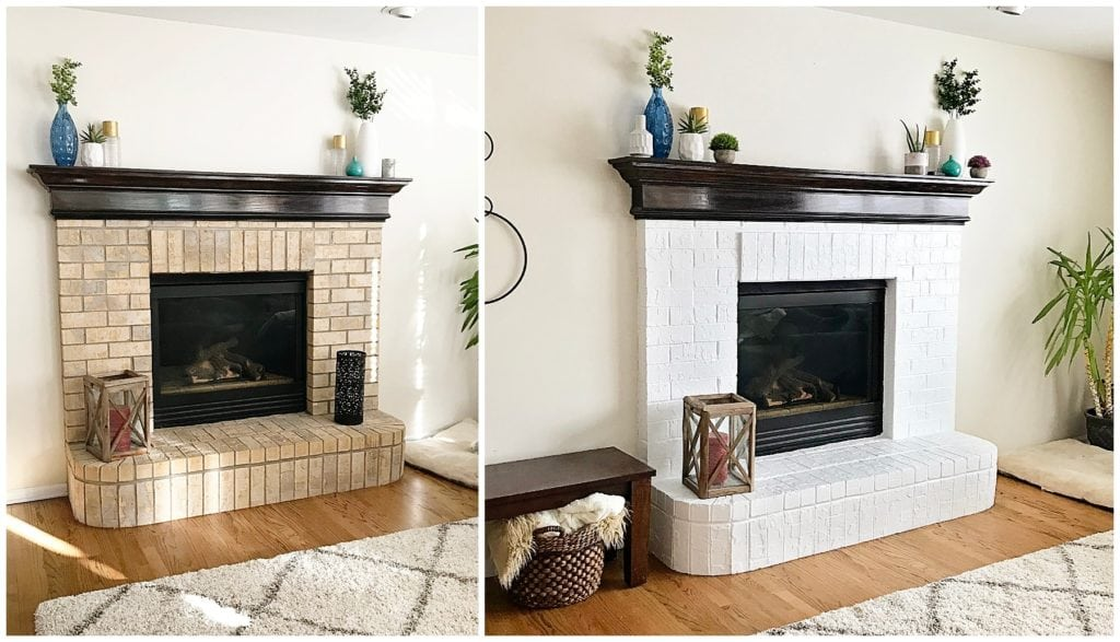 Tips For How To Paint A Brick Fireplace - The Everyday Mom Life