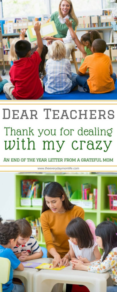 letter to teachers - The Everyday Mom Life