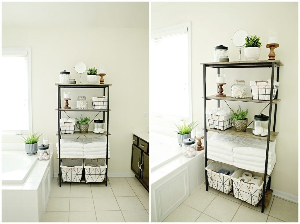 make bathroom storage beautiful - The Everyday Mom Life