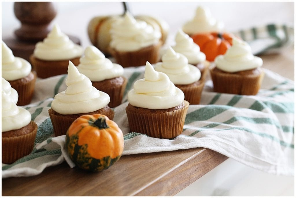 pumpkin cupcakes - The Everyday Mom Life