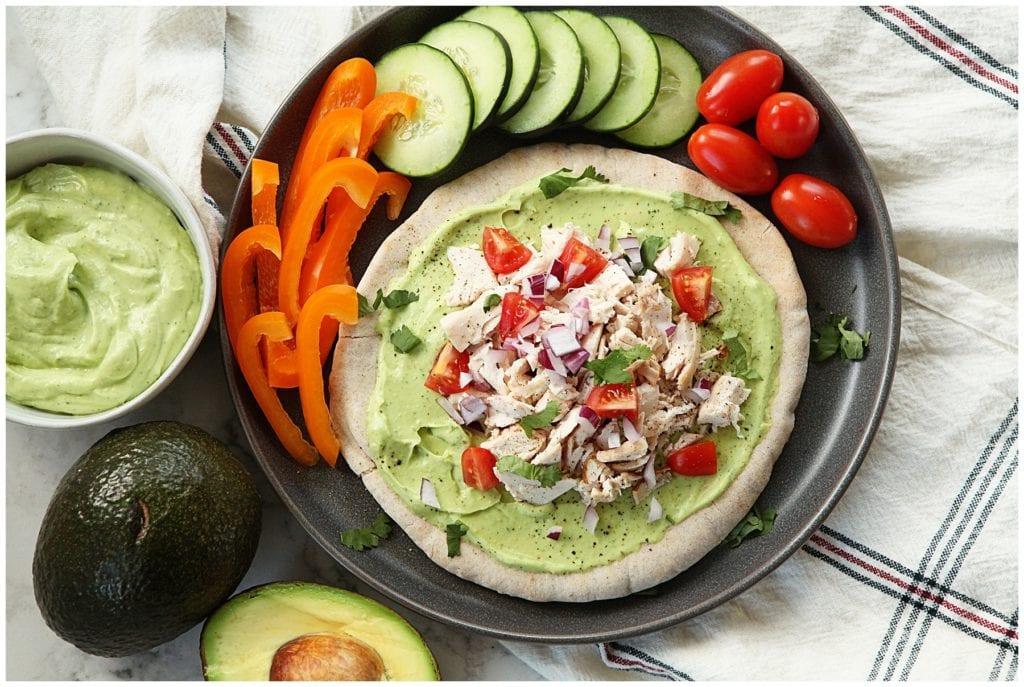Chicken pita with avocado spread - The Everyday Mom Life