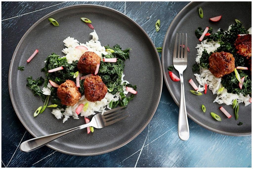 Soy Glazed Pork Meatballs