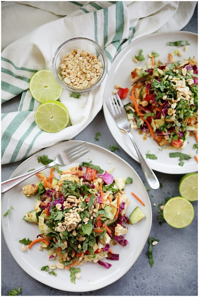 Delicious Thai Salad with Peanut Dressing