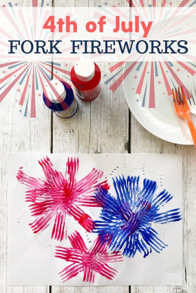Festive Fork Fireworks 4th of July Craft