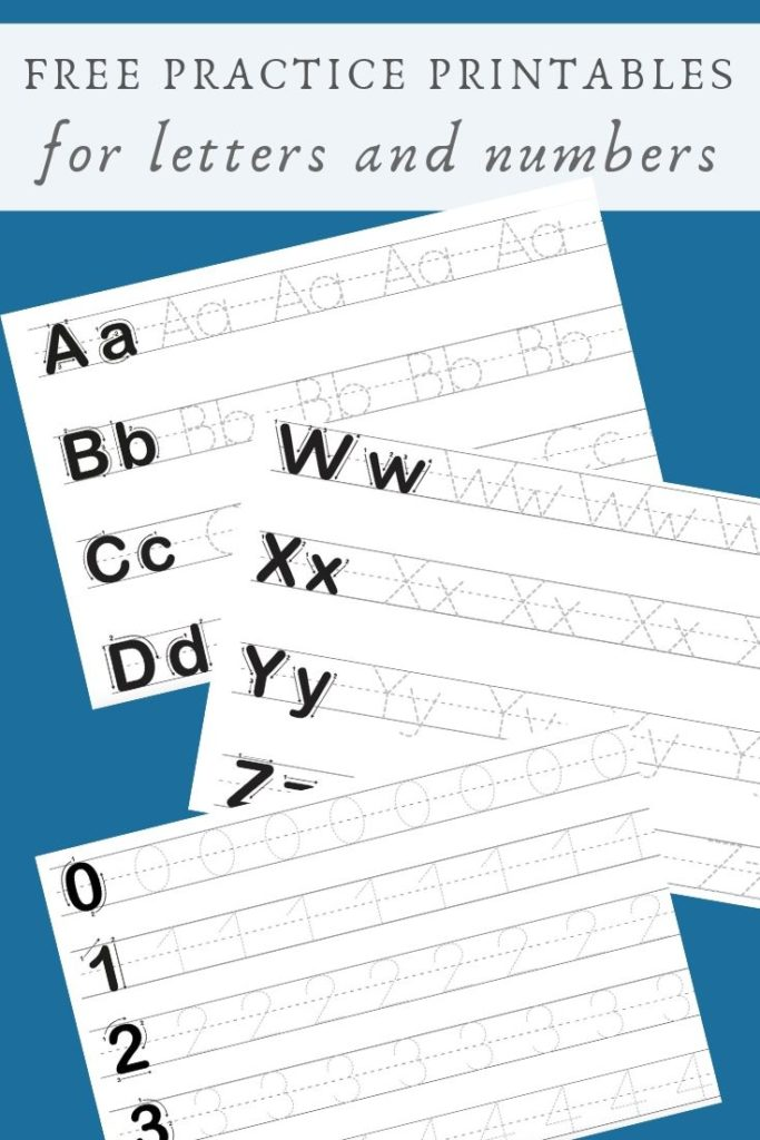 Free Printable For Tracing Letters & Numbers