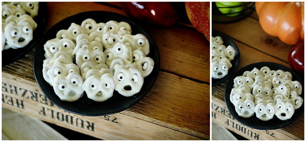 Ghostly White Chocolate Pretzels