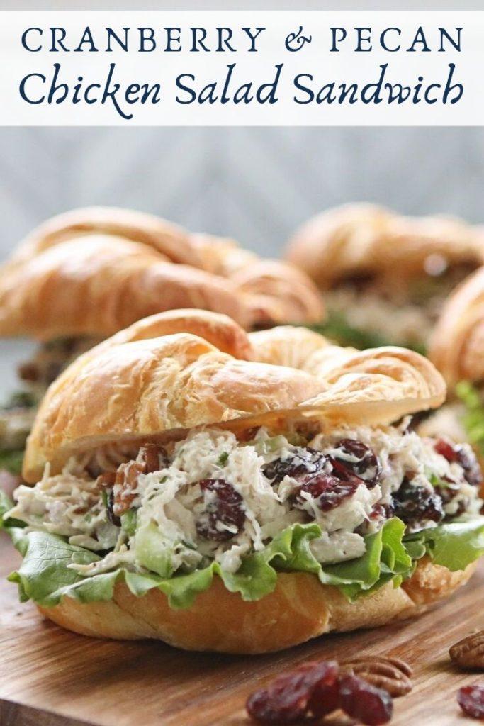Cranberry & Pecan Chicken Salad Sandwich